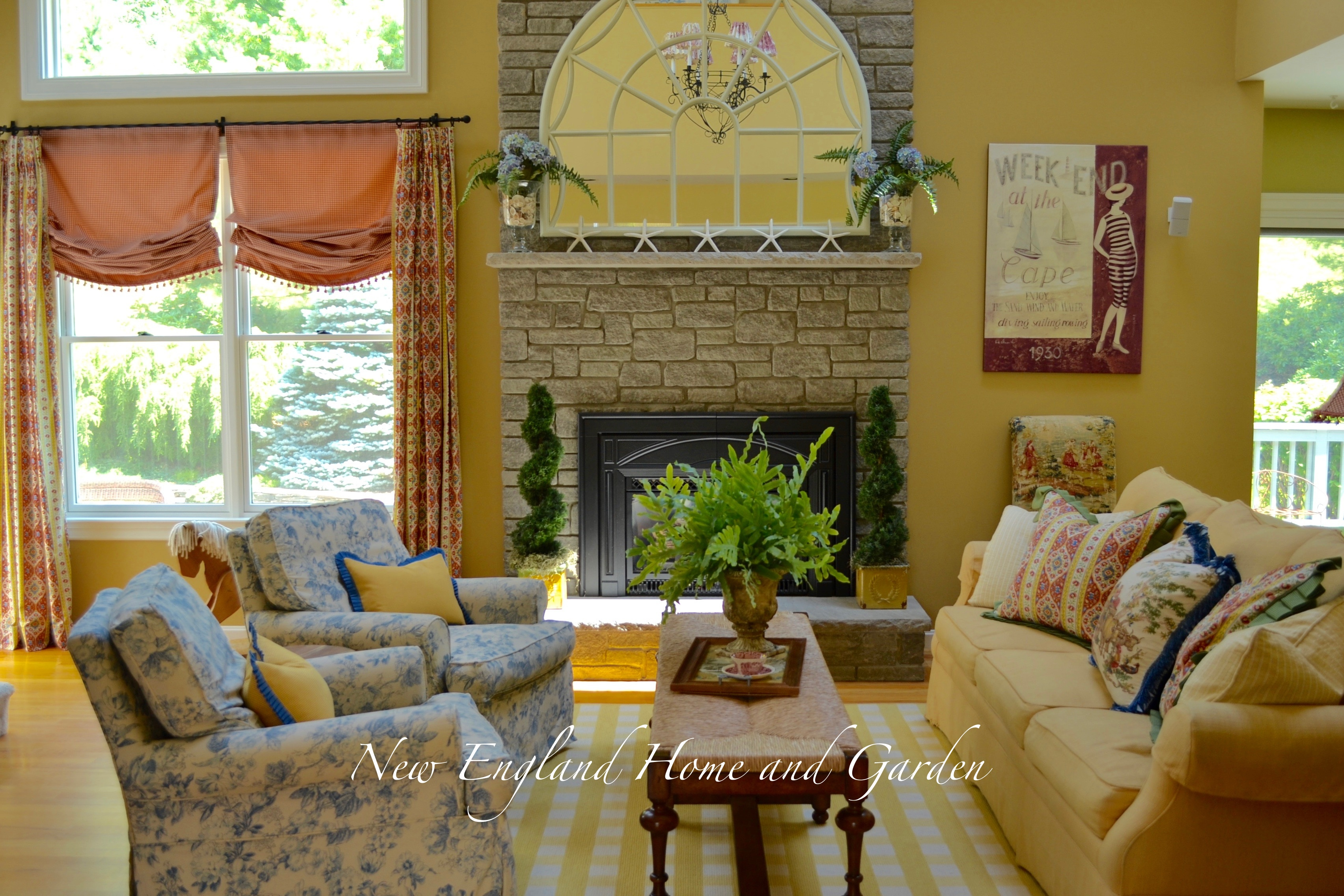 Summer Decorating: Fireplace Mantles | New England Home and Garden